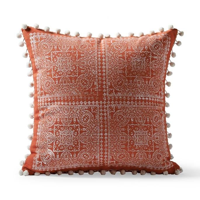 Moroccan Block Print Outdoor Pillow by Frontgate
