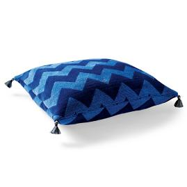 Harper Chevron Cobalt Outdoor Floor Pillow