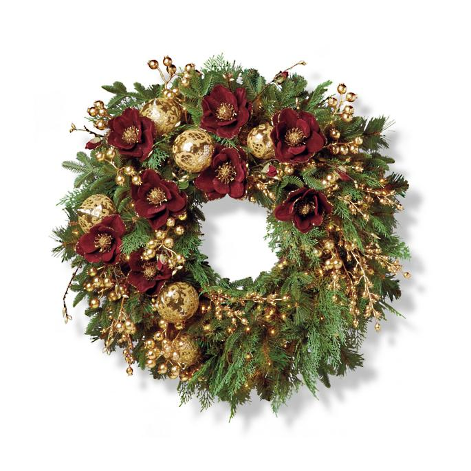 "Grand Regency Cordless 32"" Indoor Wreath by Frontgate"