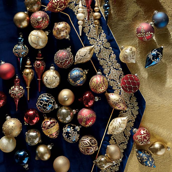 Christmas Ornament Sets.Grand Regency 60 Pc Ornament Collection