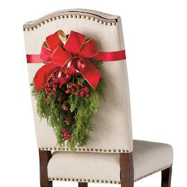 Christmas Cheer Chair Back Swags, Set of Two