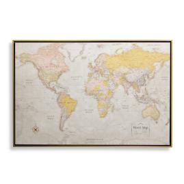Heirloom Antiqued Linen Map
