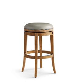 "Henning Backless Swivel Bar Height Bar Stool (30""H)"
