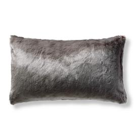 Fashion Faux Fur Matelassé Lumbar Pillow Cover in
