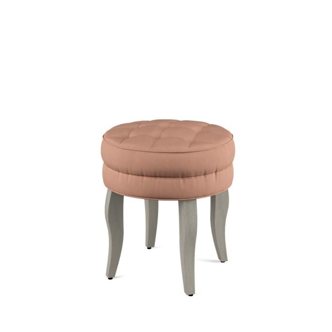 Groovy Adley Vanity Stool With Wood Legs Cjindustries Chair Design For Home Cjindustriesco