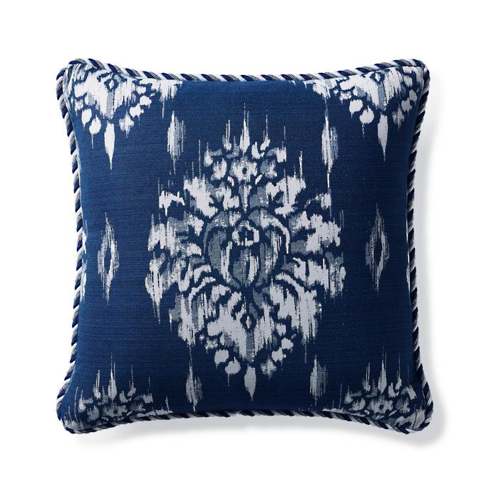 Superb Hillcrest Ikat Indigo Outdoor Pillow Onthecornerstone Fun Painted Chair Ideas Images Onthecornerstoneorg
