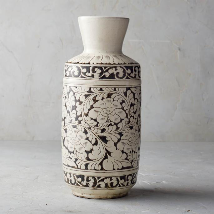 Song Noir Chinoiserie Tall Vase by Frontgate