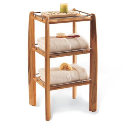 Superior Teak Shower Shelf