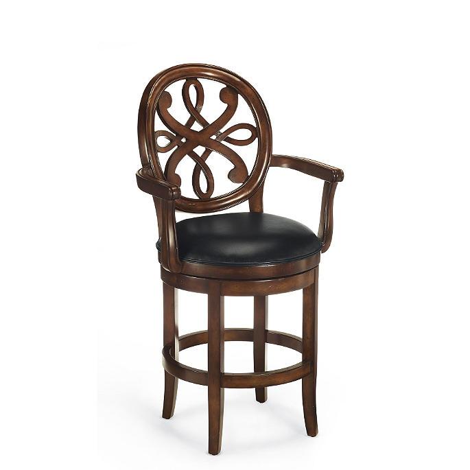 Kristina Swivel Counter Height Bar Stool 24h Seat 31 14h Arms