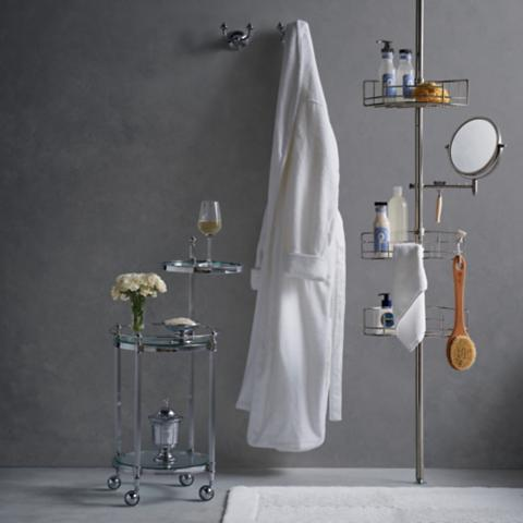 Stainless Steel Tension-mount Shower Butler | Frontgate