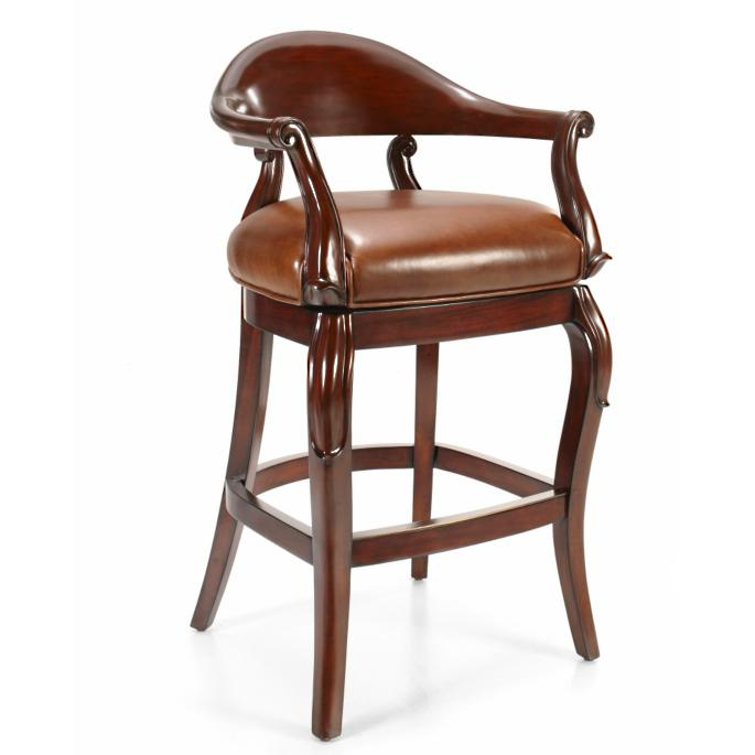 Jameson Bar Height Bar Stool 30h Seat 35 34h Arms Frontgate