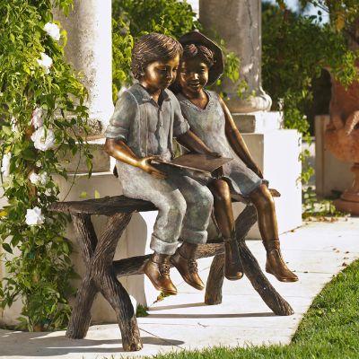 Best Friends Bronze Outdoor Sculpture Frontgate