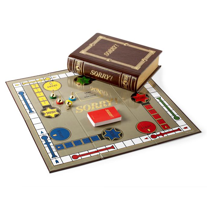 Sorry Bookshelf Board Game Frontgate