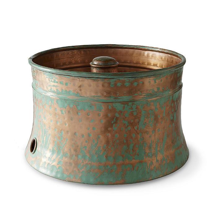Patina Copper Hose Pot Frontgate