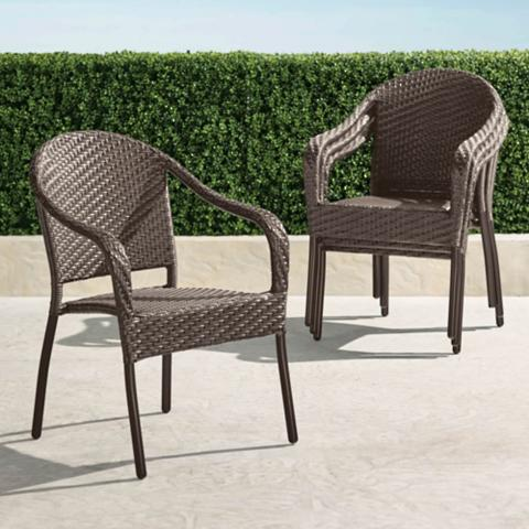 Merveilleux Cafe Curved Back Stacking Chairs, Set Of Four