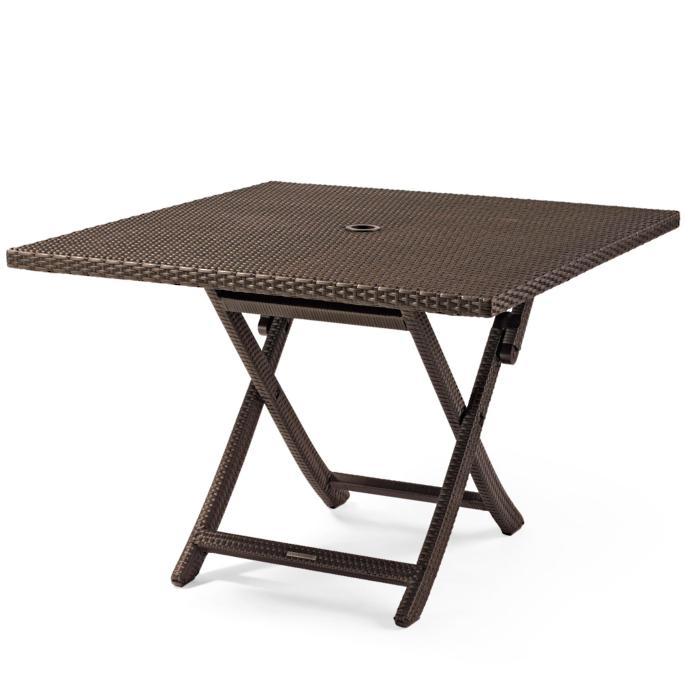 Cafe Square Folding Table Frontgate
