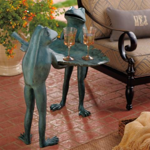 Captivating Conversational Frog Tray Table