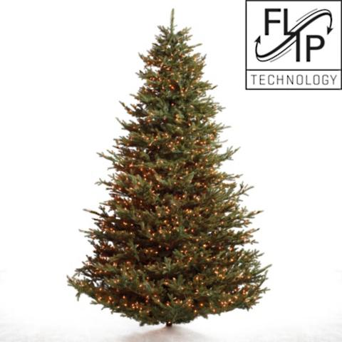 fraser fir artificial christmas tree with fliptree stand - Fraser Fir Artificial Christmas Tree