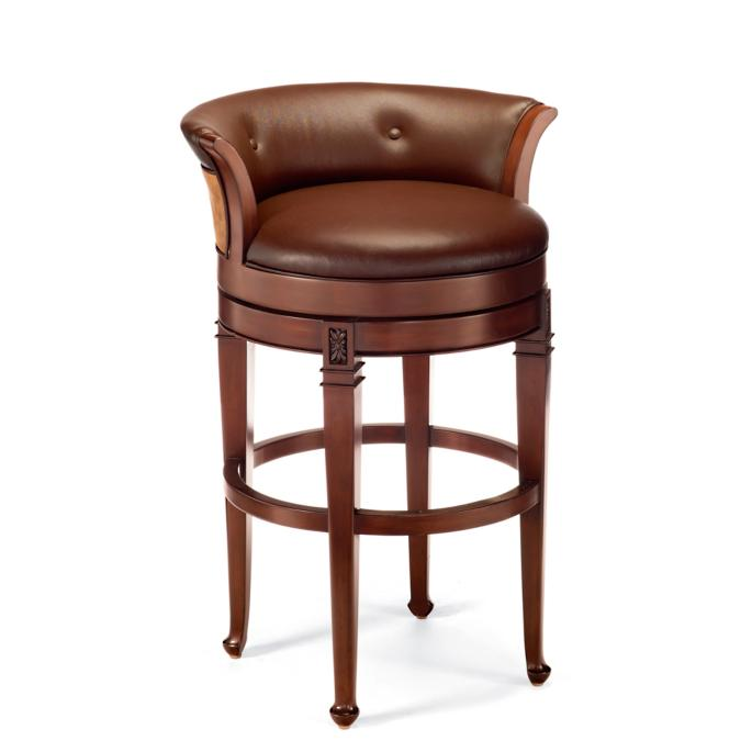 Miraculous Cantle Back Counter Height Bar Stool 24H Seat Frontgate Machost Co Dining Chair Design Ideas Machostcouk