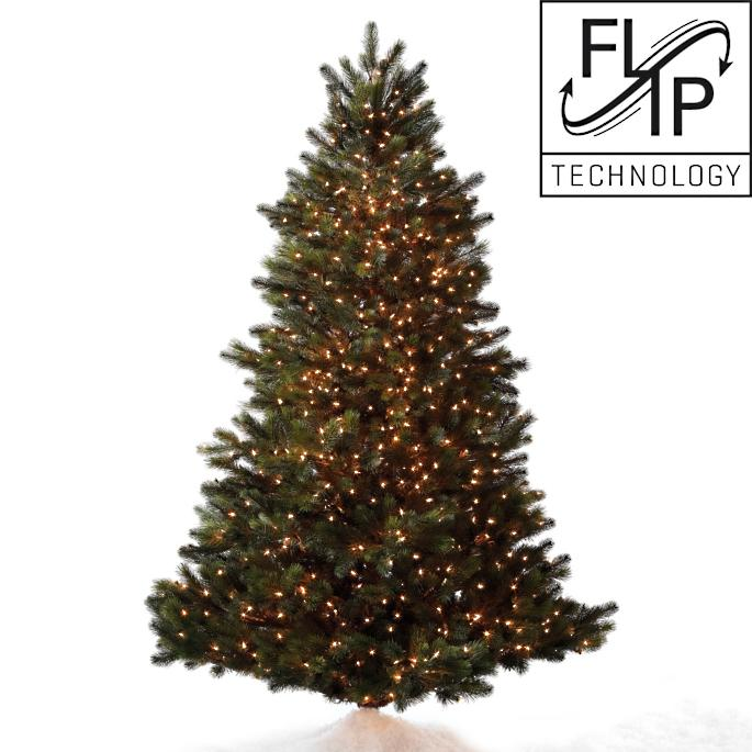 Austrian Pine Artificial Christmas Tree with FlipTree Stand   Frontgate