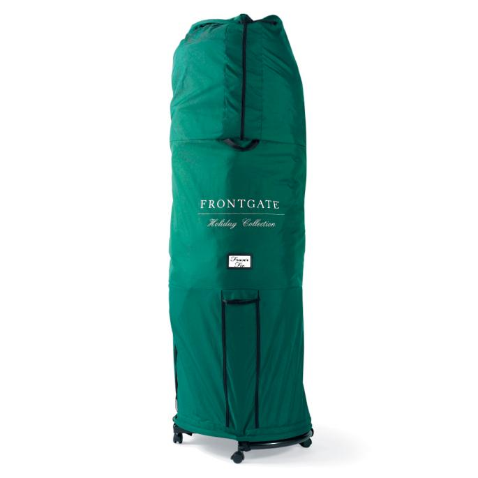 large girth pro shape tree storage bag with rolling stand for trees up to 9 - Rolling Christmas Tree Storage Bag