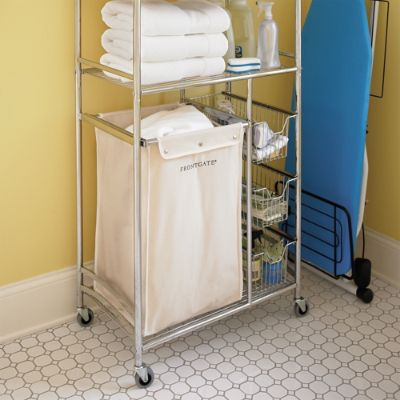 Laundry Hamper Cart With Shelves Frontgate