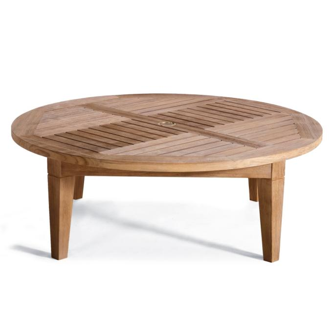 Hyde Park Solid-Teak Chat Table in Ocean Grey Finish - Hyde Park Solid-Teak Chat Table In Ocean Grey Finish Frontgate