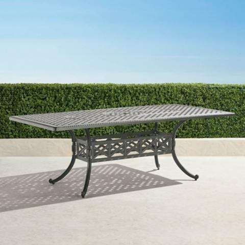 Carlisle Rectangular Casttop Dining Table In Slate Finish Frontgate - Carlisle dining table