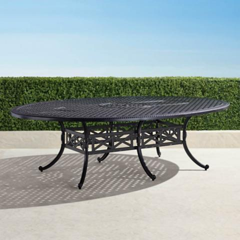 Carlisle Oval Casttop Dining Table In Onyx Finish Frontgate - Carlisle dining table