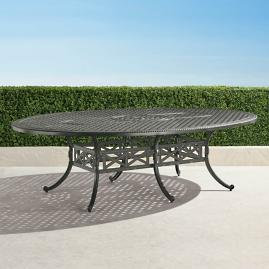 Carlisle Oval Cast-top Dining Table in Slate Finish