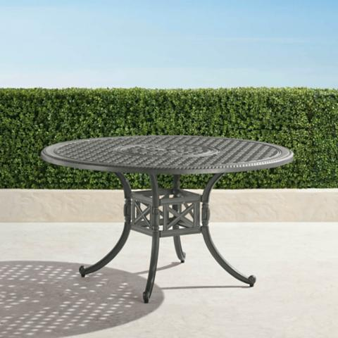 Carlisle Round Casttop Dining Table In Slate Finish Frontgate - Carlisle dining table