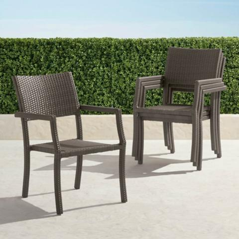 Superieur Cafe Square Back Stacking Chairs, Set Of Four
