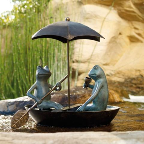 Charmant Drifting Frogs Garden Statue