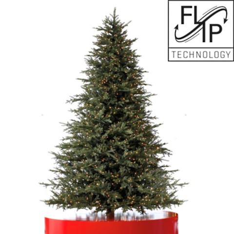 black forest fraser fir artificial christmas tree with fliptree stand - Black Artificial Christmas Tree