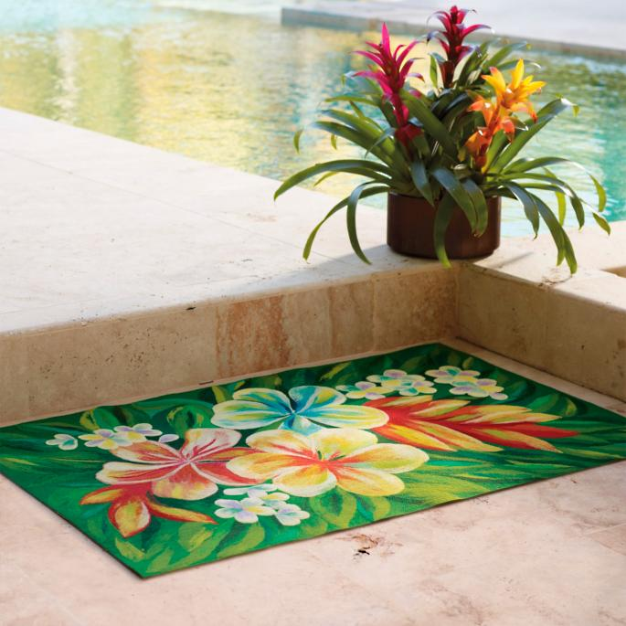Tropical Flower Indoor Outdoor Rug Frontgate