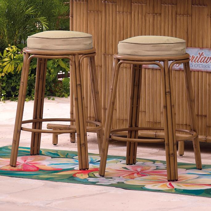 Awesome Set Of Two Margaritaville Tiki Bar Stools Gmtry Best Dining Table And Chair Ideas Images Gmtryco