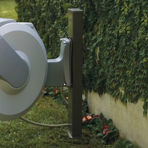 retractable hose reel post - Retractable Garden Hose Reel