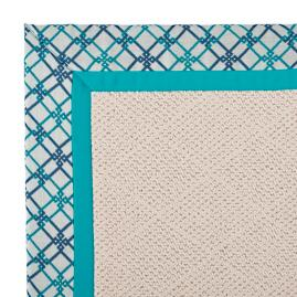 Indoor/Outdoor Parkdale Rug in Sunbrella® Criss Cross Aruba/Aruba