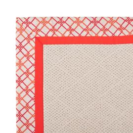 Indoor/Outdoor Parkdale Rug in Sunbrella® Criss Cross Blush/Melon