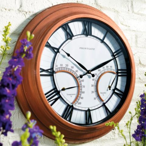 oxford outdoor clock with thermometer - Outdoor Clock Thermometer