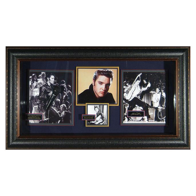 Elvis Presley Engraved Signature Shadowbox Frontgate