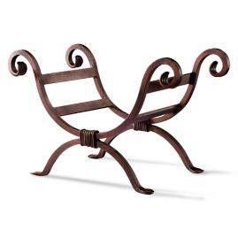 Outdoor Cast Iron Scroll Log Holder
