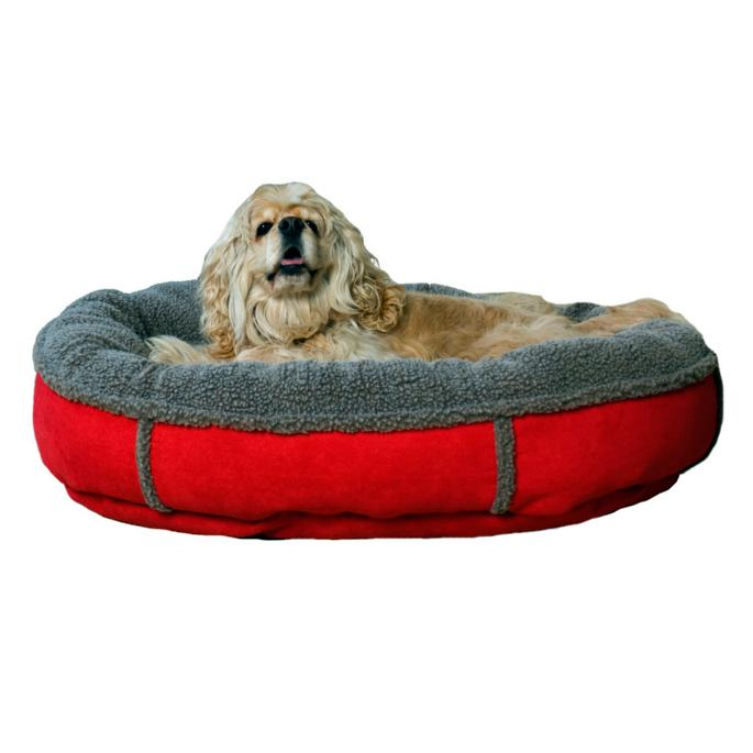 Faux Suede And Tipped Berber Pet Bed Frontgate