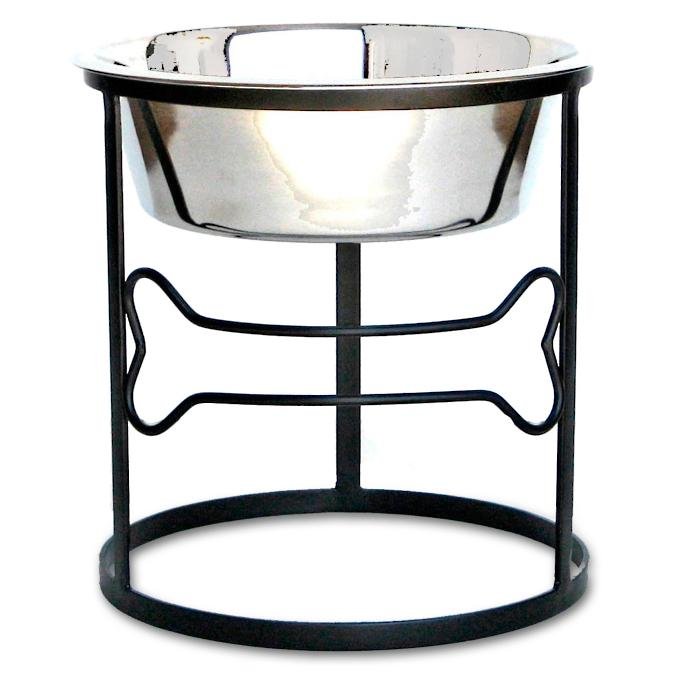 Circle Bone Elevated Single Pet Diner Frontgate