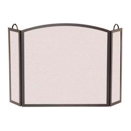 Tri-panel Arch Fireplace Screen