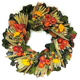 Bronze Strawflower Wreath