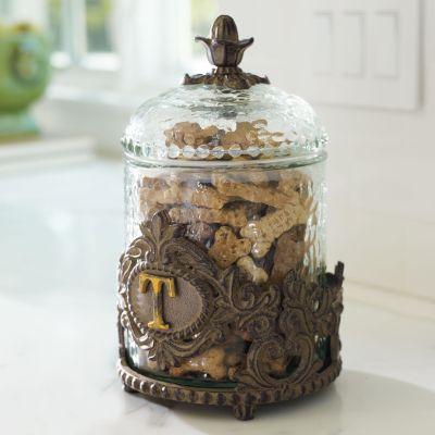 Personalized Decorative Baroque Pet Treat Jar Frontgate