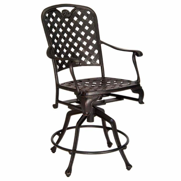 Provence 24 Swivel Bar Stool With Cushion Frontgate