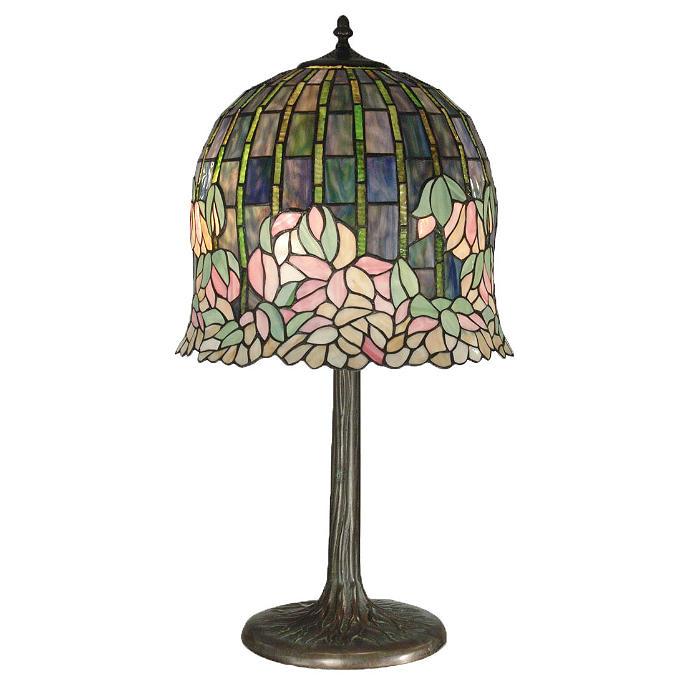 Tiffany Flowering Lotus Table Lamp Frontgate