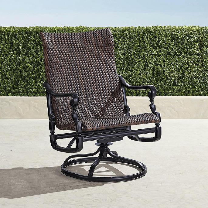 Cool Set Of Two Carlisle Woven Swivel Rocker Lounge Chairs Uwap Interior Chair Design Uwaporg